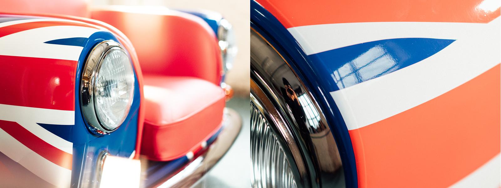 Cool Britannia - Union Jack Wrapped Mini Cooper Armchair - MiniRetro